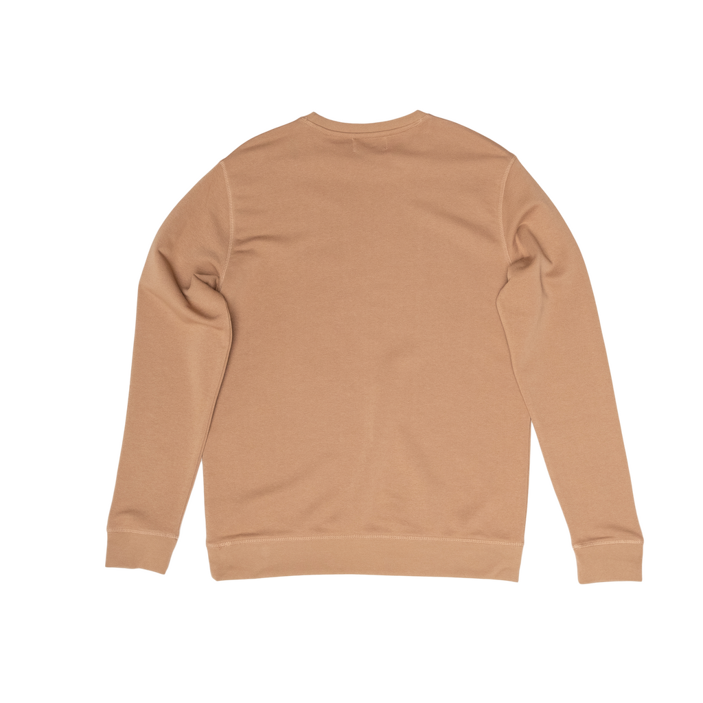 H A V E И - NorthSea Sweat - Camel with Navy Embroidery