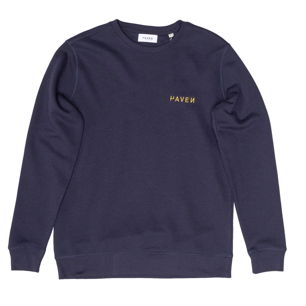 Haven Surf - NorthSea Sweat - Navy with Yellow Embroidery