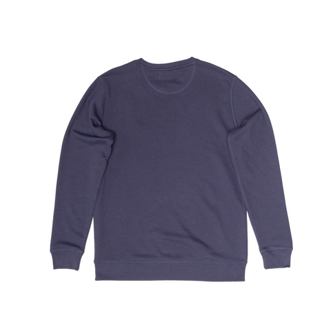 H A V E И - NorthSea Sweat - Navy with Yellow Embroidery