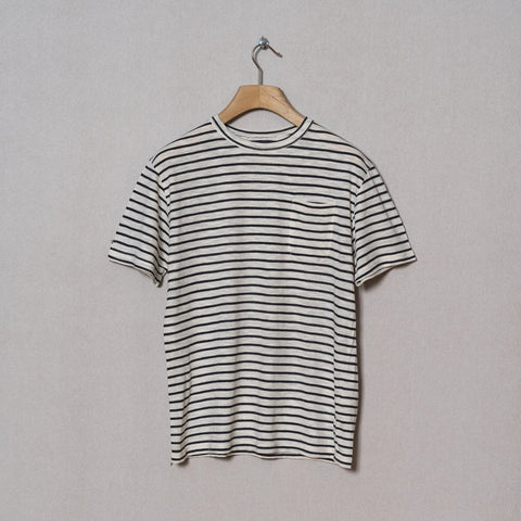 La Paz - Guerreiro Pocket Tee - Navy Stripes