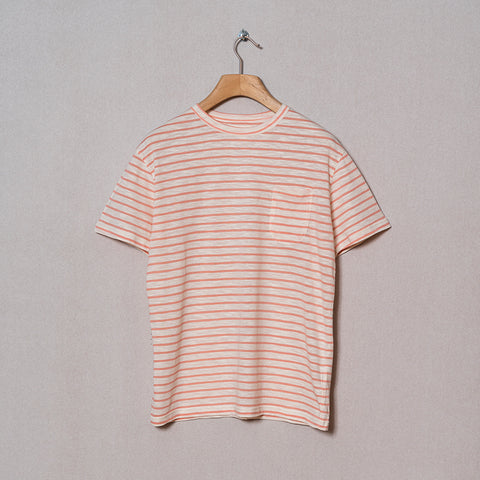 La Paz - Guerreiro Pocket Tee - Salmon Stripes