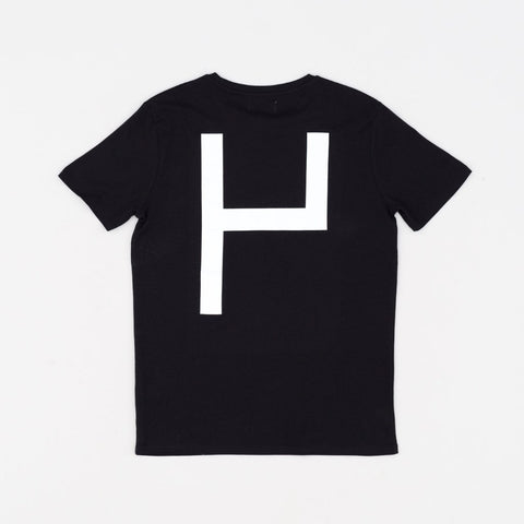 La Source Tee - Black w/White print