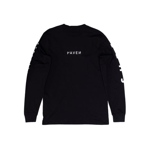 H A V E И - 'Surf Everything' L/S Tee - Black/White