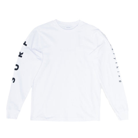 H A V E И - 'Surf Everything' L/S Tee - White/Black