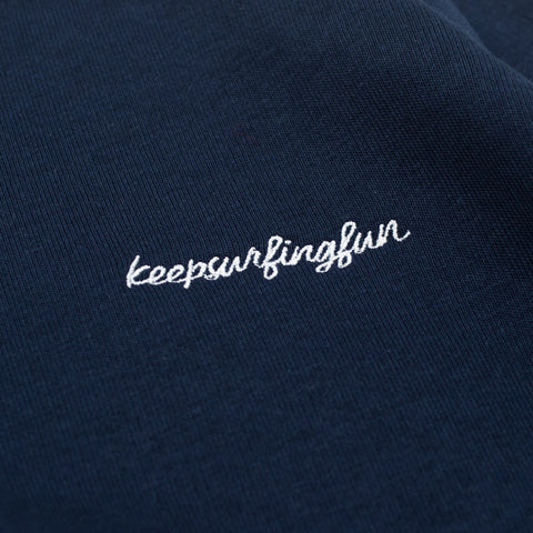 H A V E И - Keep Surfing Fun Sweat (kids) - Navy/White
