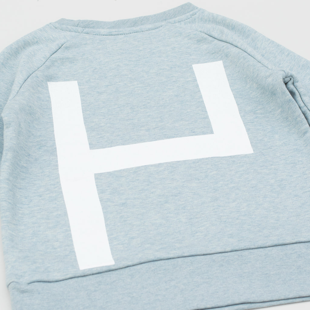 La Source Sweat (kids) - Ice Heather Blue/White