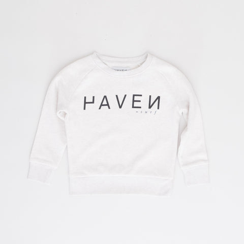 H A V E И - Boiler Sweat #2 (kids) - Cream Heather Grey