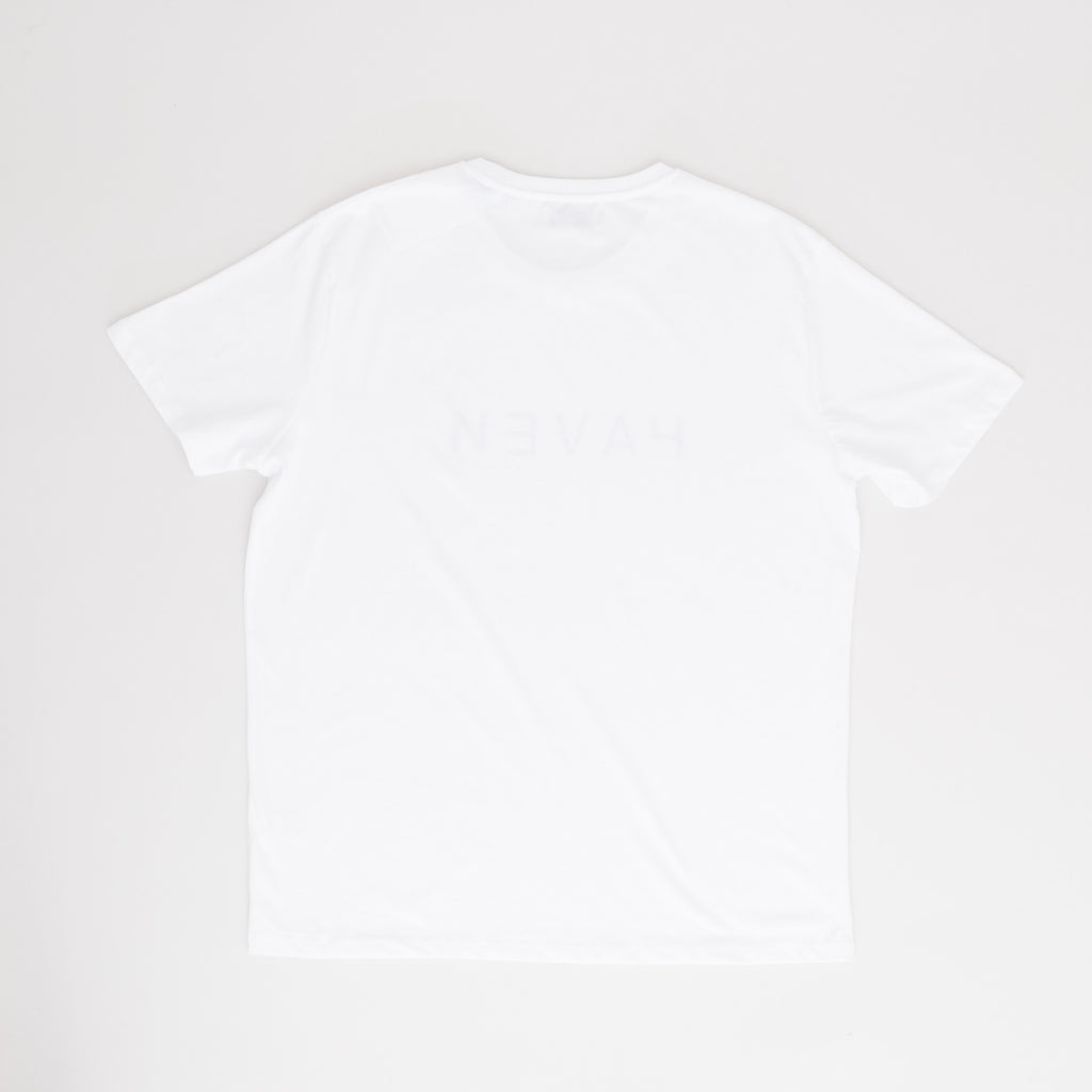 Boiler Tee #2 (kids) - White w/Black & Blue print