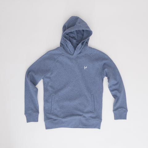 North Sea Slides Hoodie (kids) - Dark Heather Blue