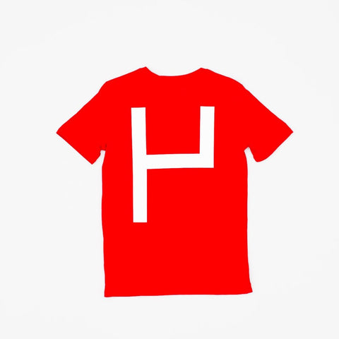 La Source Tee - Red w/White print