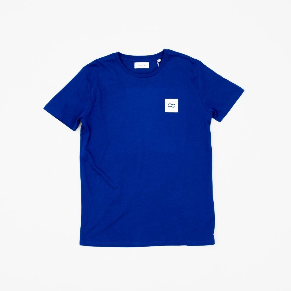 La Source Tee - Blue w/White print