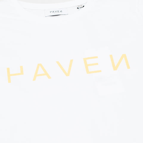 Boiler Tee #1  - White w/Yellow print
