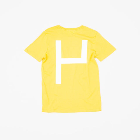 La Source Tee - Mustard w/White print