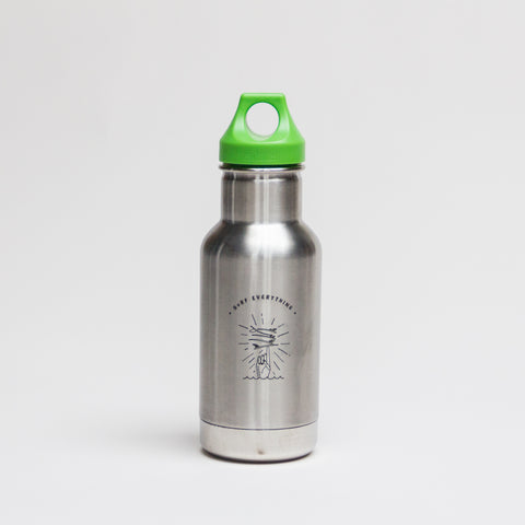 Klean Kanteen + H A V E И 12oz Kid Classic Insulated Bottle (Loop Cap)  - Brushed Stainless
