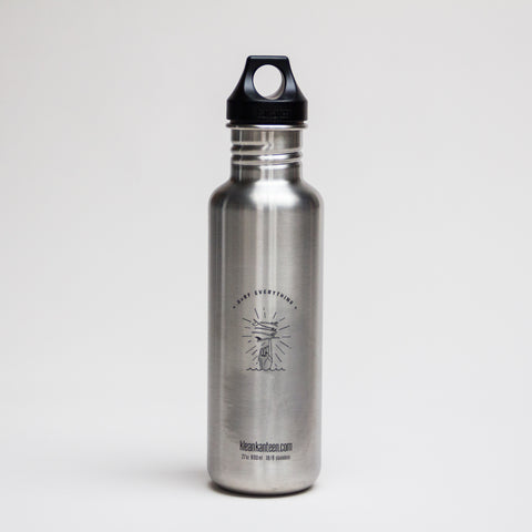 Klean Kanteen + H A V E И 27oz Classic Bottle (Loop Cap)- Brushed Stainless