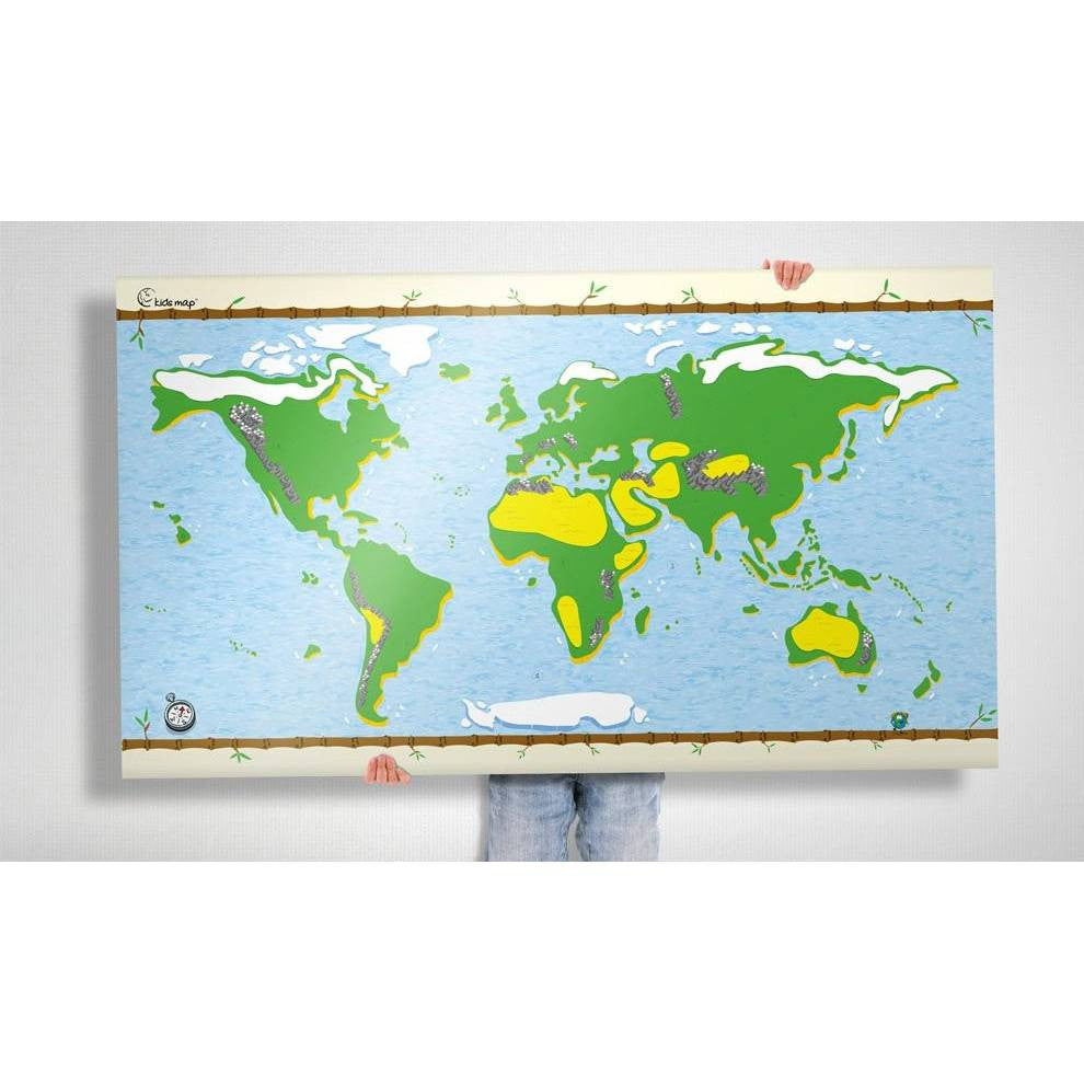 Kids Map - re writable with stickers
