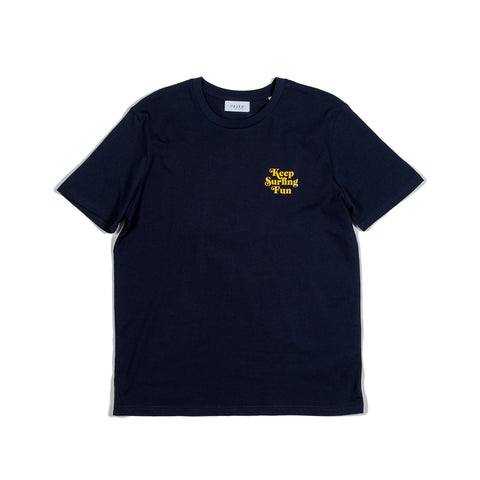 HAVEN - Keep Surfing Fun Smiley Tee - French Navy