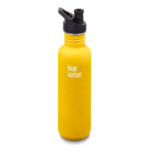 Klean Kanteen - Classic 27oz with Sport Cap 3.0 (800ml) - Lemon Curry