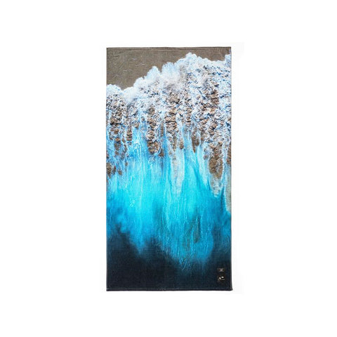 Slowtide - Painted Sand Towel - Blue