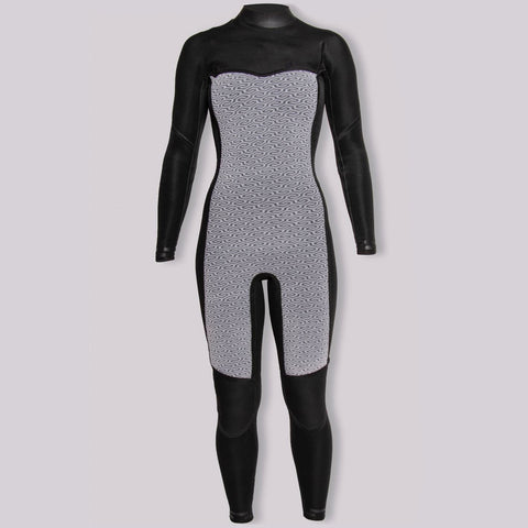 Sisstr - 7 Seas 3/2 Chest Zip Full Suit - Charcoal