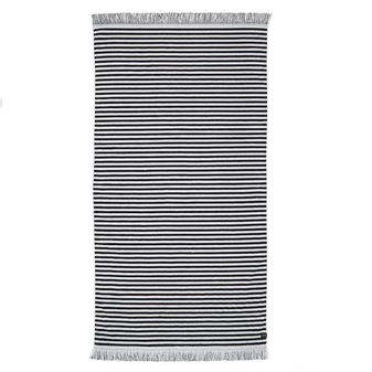 Slowtide - Warrant Towel (150x75) - Black / White