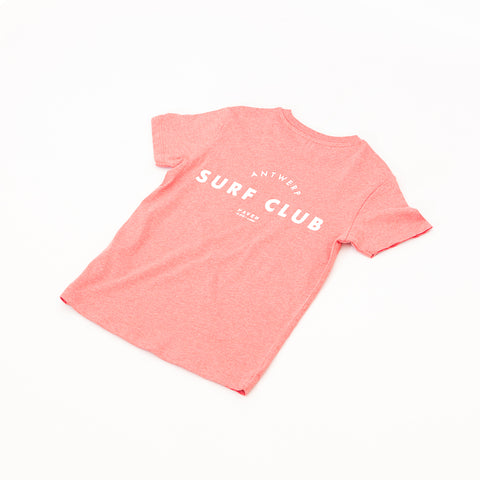 Antwerp Surf Club Tee - Coral Red
