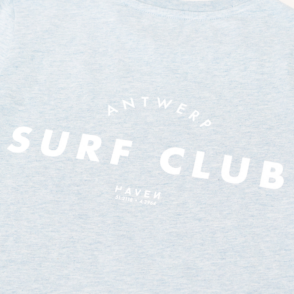 Antwerp Surf Club Tee - Ice Blue