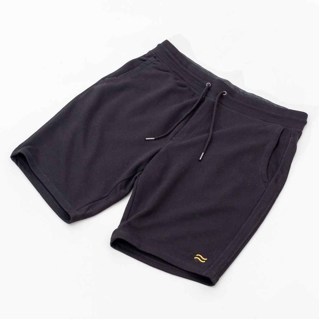 Gold Waves Sweat Short - Black