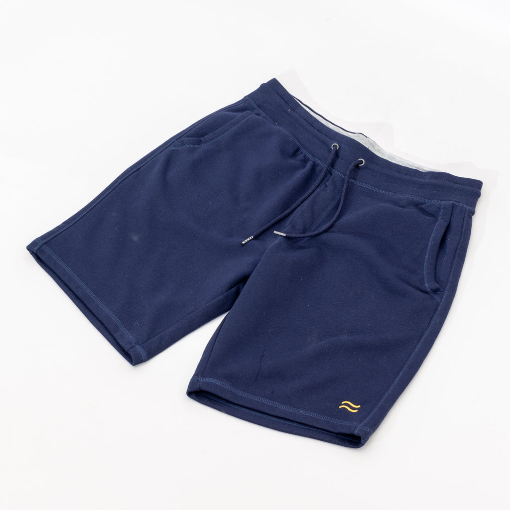 Gold Waves Sweat Short - Navy