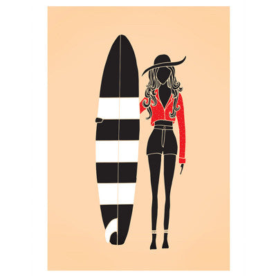 Surfer Girl' Art Print
