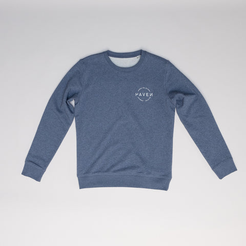 North Sea Slides Sweat (unisex) - Dark Heather Blue