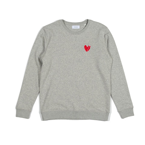 H A V E И - Twin Fin Love Sweat - Heather Grey