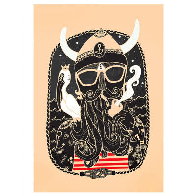 Viking O' Art Print