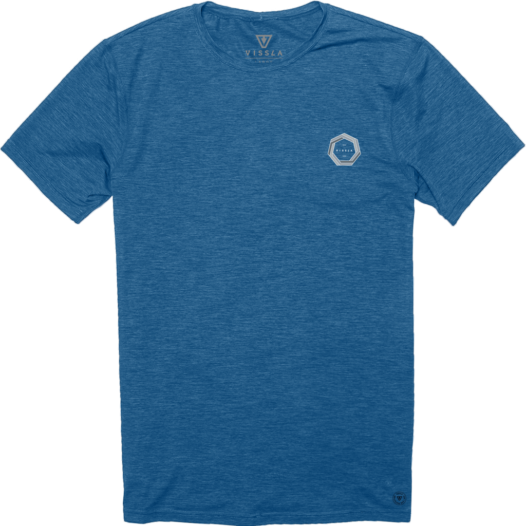 The Drainer SS Surf Tee - Marine Heather
