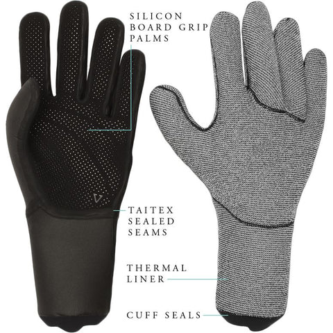 Seven Seas 3mm Gloves - Black