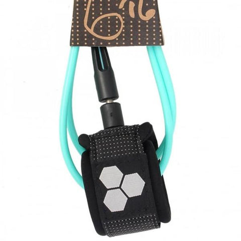 Dane Comp Leash 6 - Black/Turquoise