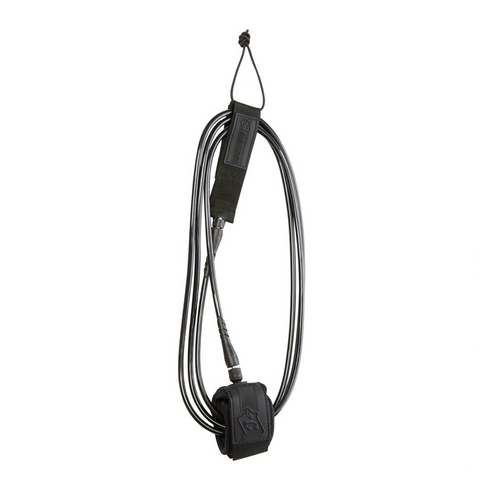 Longboard Ankle 9ft Leash (2.7m x 7mm) - Black/Black