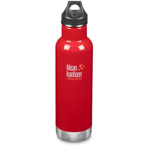 Klean Kanteen - 20oz Classic Insulated /Loop Cap 592ml - Mineral Red