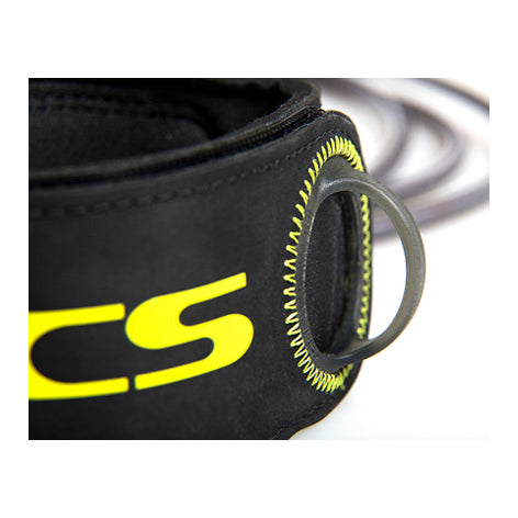 FCS - 6ft Freedom Leash - Charcoal/Yellow