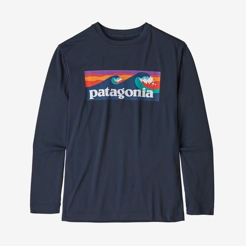 Patagonia - Boys' L/S Cap Cool Daily T-Shirt - New Navy