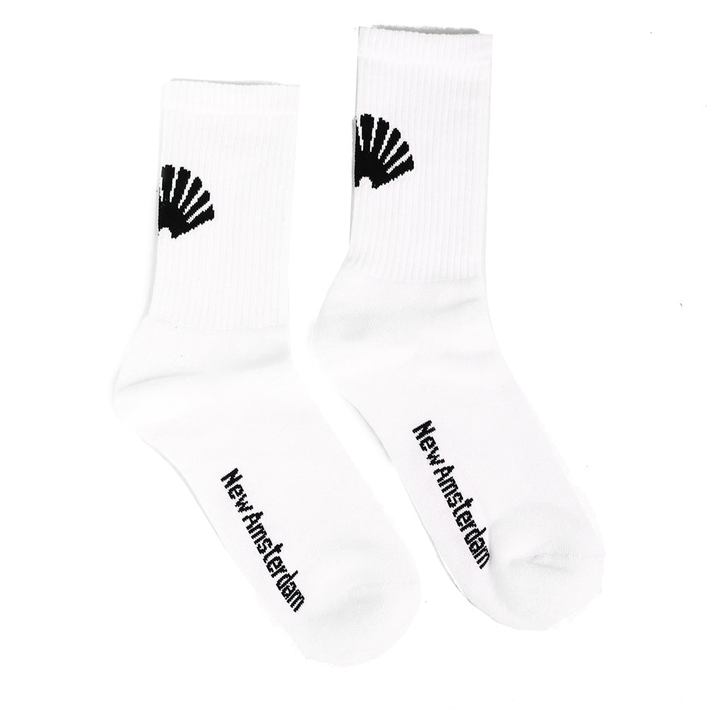 New Amsterdam Surf Association - Logo Socks - White