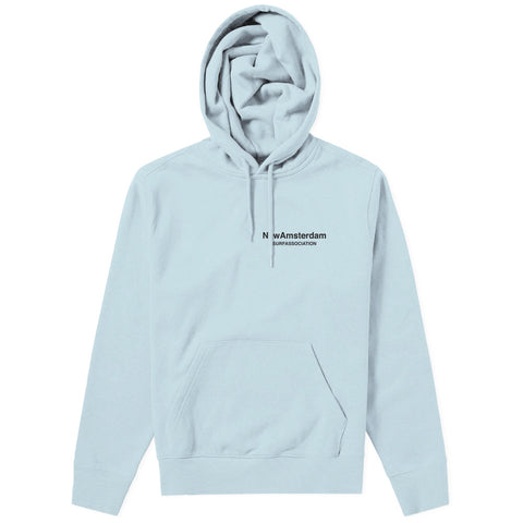 New Amsterdam Surf Association - Logo Hoodie - Light Blue