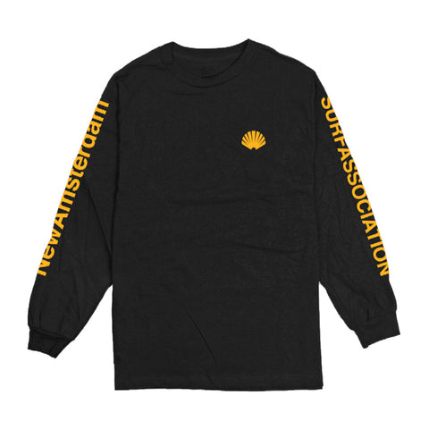 New Amsterdam Surf Association - Logo L/S Tee - Black