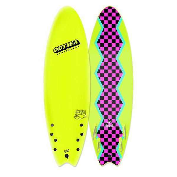 "ODYSEA Pro Skipper 6'0"" (Quad) - Electric Lemon/80's Steeze"