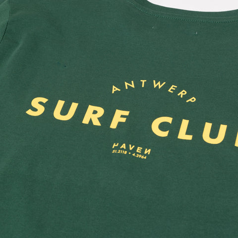 Antwerp Surf Club Tee - Bottle Green