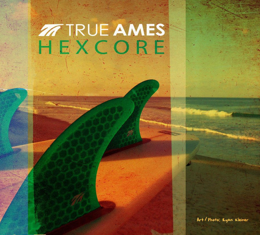 True Ames - Channel Islands Small (Futures Compatible) - Yellow Hexcore
