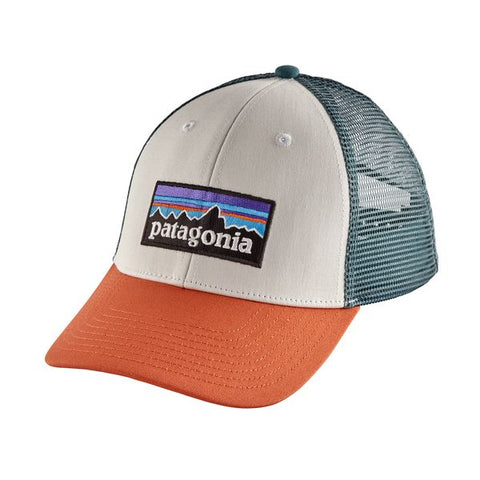 Patagonia - P-6 Logo LoPro Trucker Hat - White w/Sunset Orange