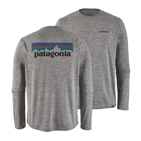 Patagonia - M's L/S Cap Cool Daily Graphic Shirt - Feather Grey