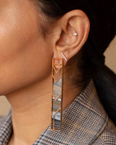 Single Rectangle Earrings