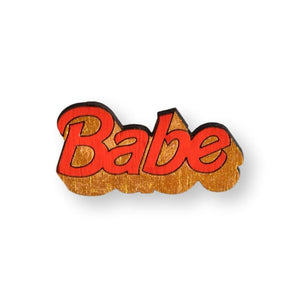 Babe Pin Brooch Yes Please! Red